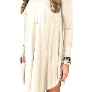Cream colored dress